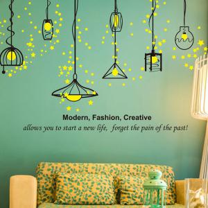 Removable Droplight Vinly Living Room Decorative Wall Stickers