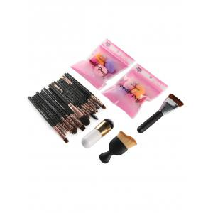 23 Pcs Makeup Brushes and Makeup Sponges -