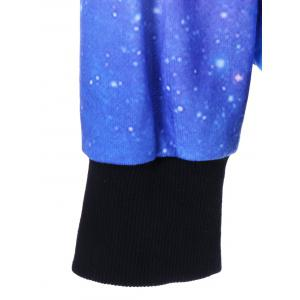 Drop Shoulder Galaxy Hoodie - COLORMIX M