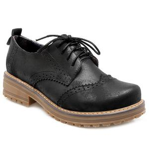 Chunky Heel Wingtip Shoes