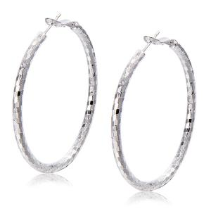 Plaid Large Hoop Earrings