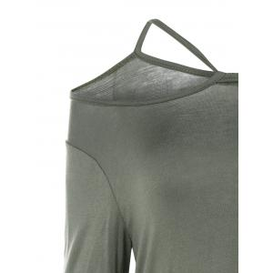 Long Sleeve Handkerchief T-Shirt - TAUPE XL