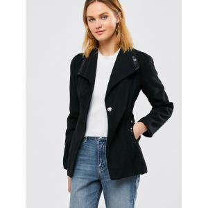 Laine Panel Blend Coat Belted - Noir S