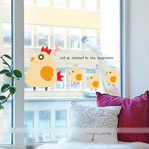 Cartoon Chicken Wall Stickers For Kids Room Decor