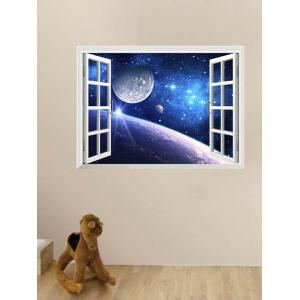 Window Design 3D Earth Planet Stickers for Wall