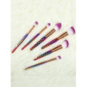 6 Pcs Nylon Ombre Makeup Brushes Set