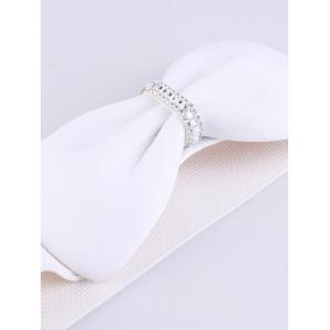 Rhinestone Stretch Bow Waist Belt