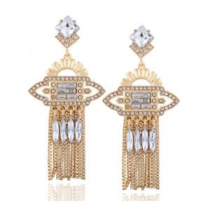 Geometric Water Drop Rhinestone Drop Earrings