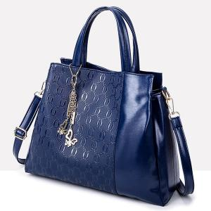 Bleu fonc sac main gaufr avec zip around wallet - Gaufre bleu maladie femme photo ...
