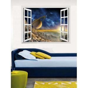 Window Design 3D Galaxy Wall Stickers Planets - Colormix - 50*70cm