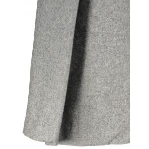 Wool Blend Capri Wide Leg Scrub Pants - GRAY M