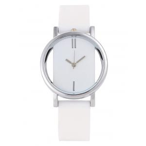 Analog Silicone Wrist Watch - White