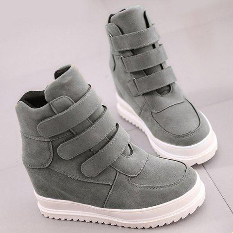 Buy Stitching Hidden Wedge Ankle Boots - Gray 38