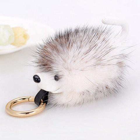 Unique Hedgehog Fuzzy Ball Keychain