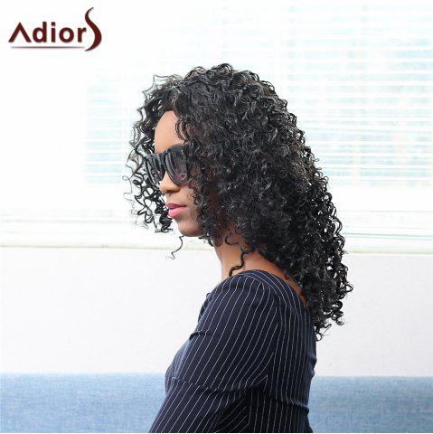 Fancy Bouffant Medium Afro Curly Capless Stunning Black Synthetic Adiors Wig For Women BLACK