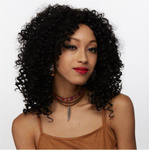Shop Medium Afro Curly Side Bang Synthetic Wig