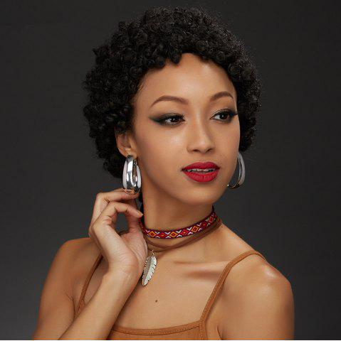 Hot Short Afro Curly Capless Human Hair Wig