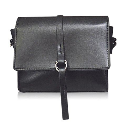 Outfit Faux Leather Mini Cross Body Bag BLACK