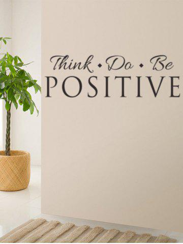 Fashion Think Quote Removable Wall Stickers For Living Room - BLACK  Mobile