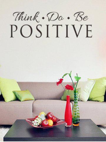Unique Think Quote Removable Wall Stickers For Living Room - BLACK  Mobile