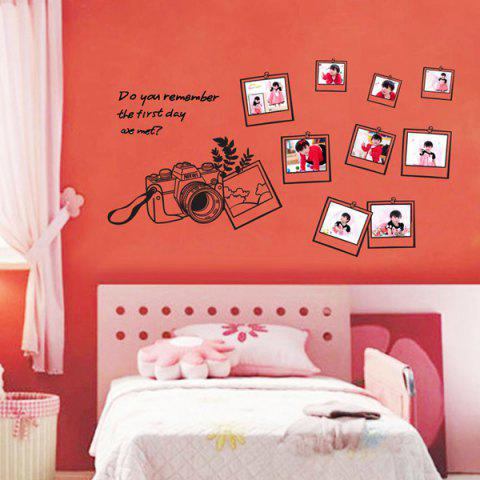 Fancy Photo Frame Decorative Personalised Vinyl Wall Stickers BLACK