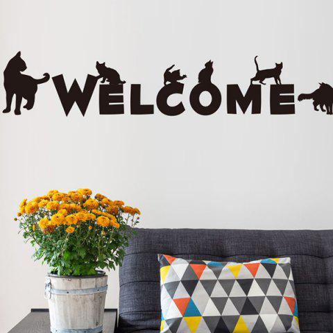 Welcome Word Living Room Decorative Wall Stickers - Black - 48.5*68cm