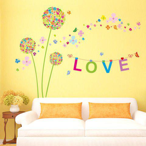 colorful diy dandelion removable vinyl home decor wall rose flower wall stickers removable decal home decor diy