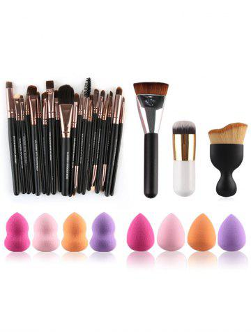Cheap 23 Pcs Makeup Brushes and Makeup Sponges