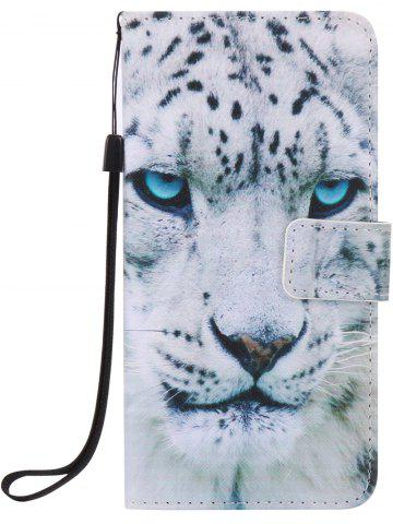 Unique PU Leather Phone Case with White Cheetah Colored Drawing For iPhone - FOR IPHONE 7 PLUS WHITE Mobile