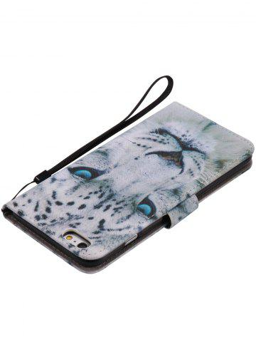 Sale PU Leather Phone Case with White Cheetah Colored Drawing For iPhone - FOR IPHONE 7 PLUS WHITE Mobile