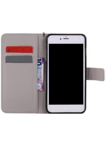 Buy PU Leather Phone Case with White Cheetah Colored Drawing For iPhone - FOR IPHONE 7 PLUS WHITE Mobile