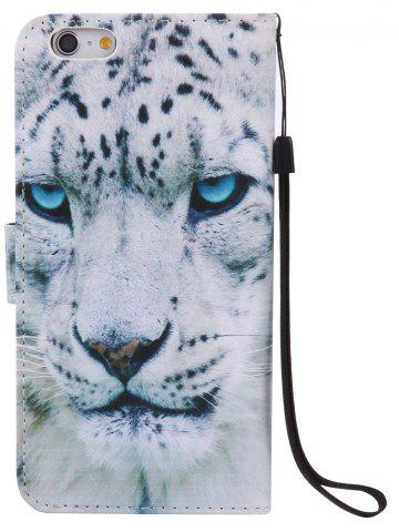 Fashion PU Leather Phone Case with White Cheetah Colored Drawing For iPhone - FOR IPHONE 7 PLUS WHITE Mobile