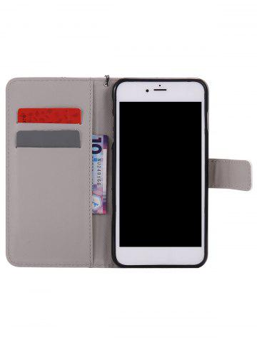 Unique PU Leather Phone Case with Vintage Castle Colored Drawing For iPhone - FOR IPHONE 6 PLUS / 6S PLUS LIGHT BROWN Mobile