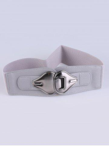 Double Pear Stretch Belt - Gray - 38