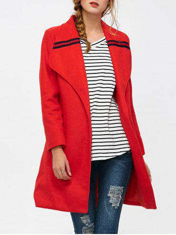 Wool Blend Belted Shawl Collar Coat