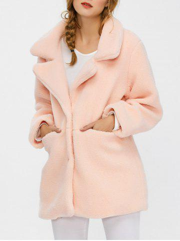 Fuzzy Buttoned Coat
