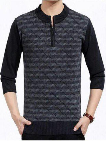 Patterned Half Zip Up Pull