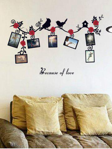Online Photo Frame Removable Home Decals Wall Stickers COLORMIX