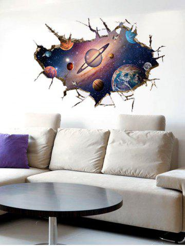 Outfits Wall Broken Design 3D Galaxy Planet Wall Stickers - COLORMIX  Mobile