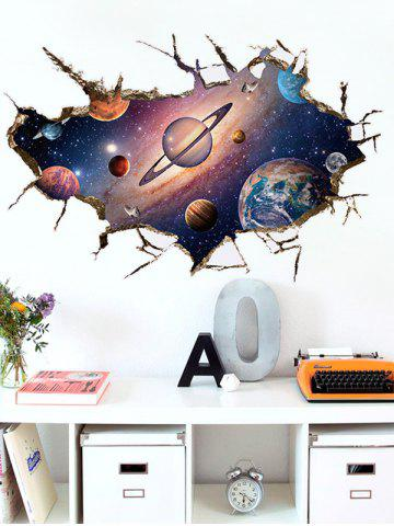 Latest Wall Broken Design 3D Galaxy Planet Wall Stickers - COLORMIX  Mobile