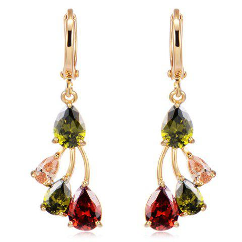 Affordable Water Drop Rhinestoned Earrings COLORMIX