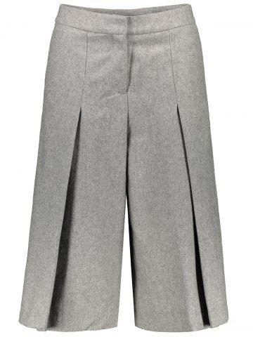 Store Wool Blend Capri Wide Leg Scrub Pants GRAY L