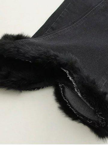 Online Fuzzy Ninth Flare Jeans - XL BLACK Mobile