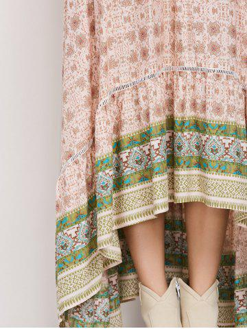 Outfit Bohemian Patterned High Low Maxi Skirt -   Mobile
