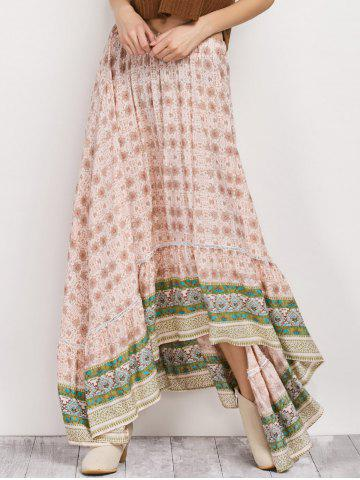Hot Bohemian Patterned High Low Maxi Skirt -   Mobile