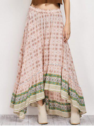 Shop Bohemian Patterned High Low Maxi Skirt -   Mobile