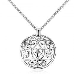 Round Filigree Pendant Necklace