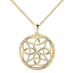 Round Hollow Out Pendant Necklace