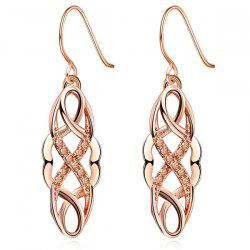 Rhinestone Cirrus Drop Earrings