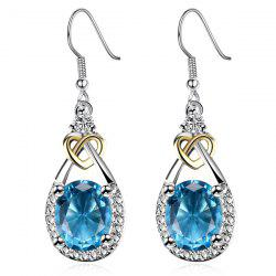 Heart Faux Gem Teardrop Earrings